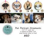Wood Slice Ornament Pet Portraits
