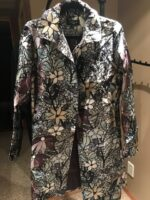 $69.00 SALE Beautiful patterned long jacket - great for any occasion!
