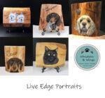 Live Edge Pet Portraits